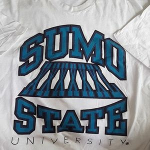 Rare 2xl sumo state university tailgater tee 1994